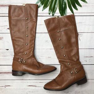 {Michael Kors} sz 7 camel studded riding boots